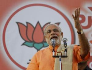 Photo Credits: The Hindu.  Narendra Modi