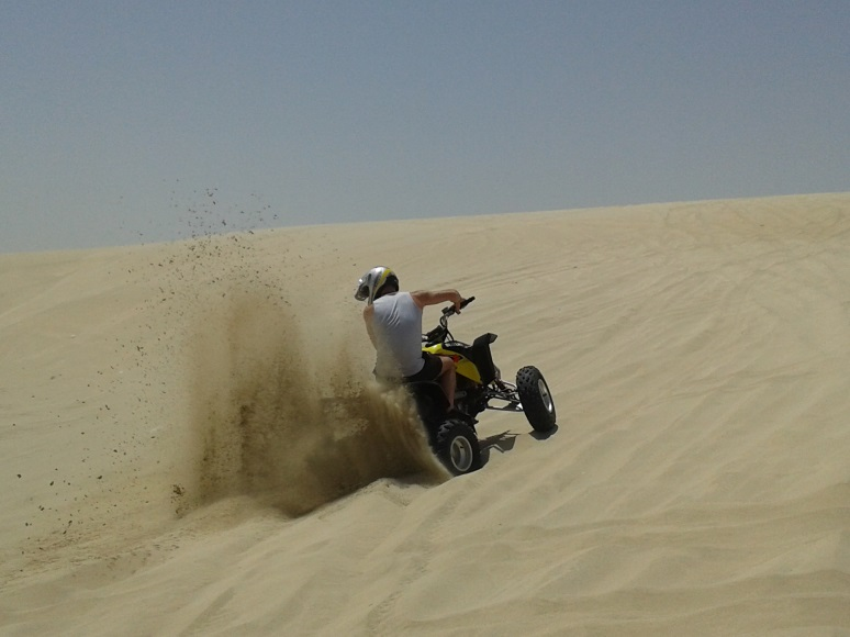 Photo Credits: Jamie Pinnock Quad Biking in the Desert